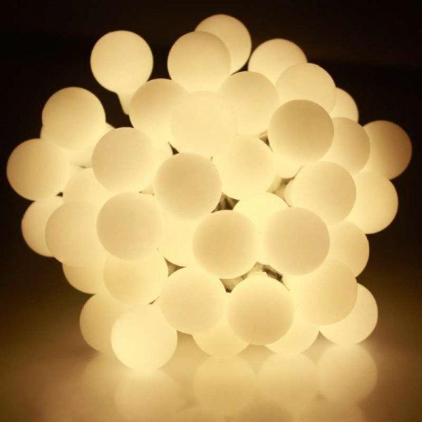 Guirnalda bolas led blanco cálido