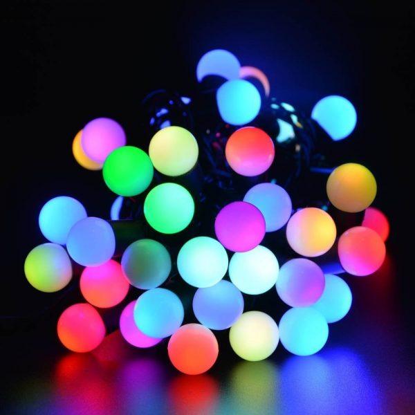 Guirnalda bolas led RGB 20mts
