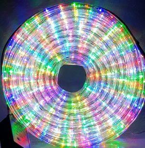 Manguera led multicolor con movimiento 25mts