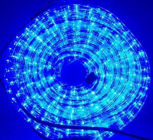 Manguera led azul con movimiento 25mts