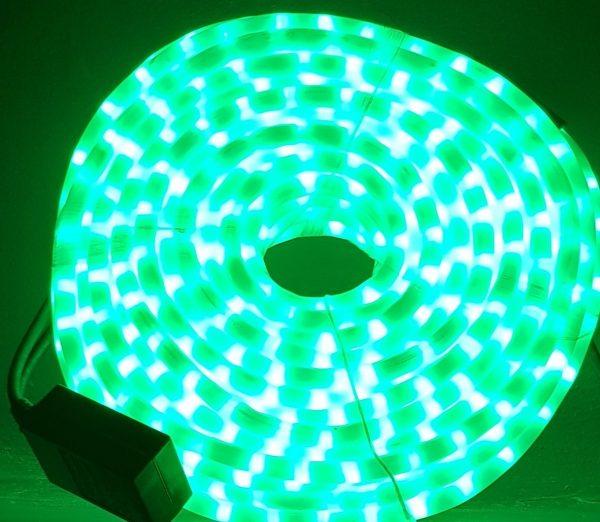 Manguera led verde opal con movimiento 25mts