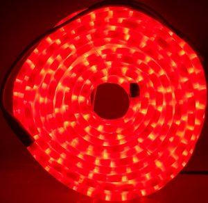 Manguera led rojo opal con movimiento 25mts