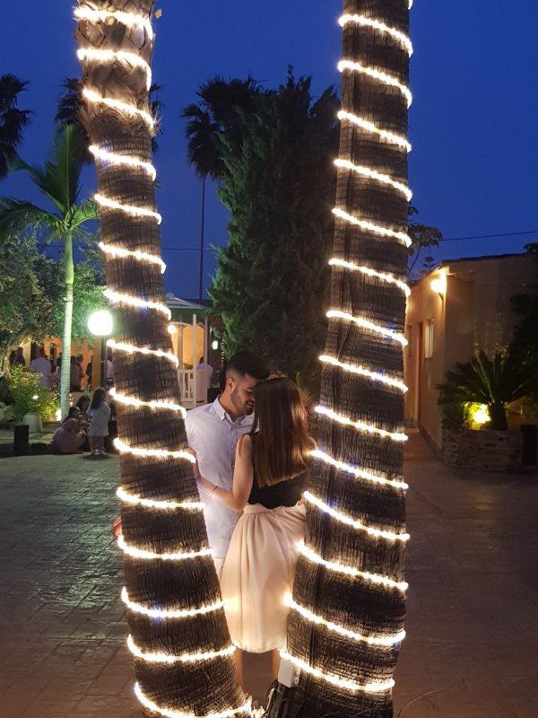 AGOTADO. Manguera de luz incandescente Azul