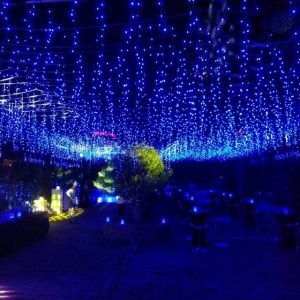 Cortina icicle led azul