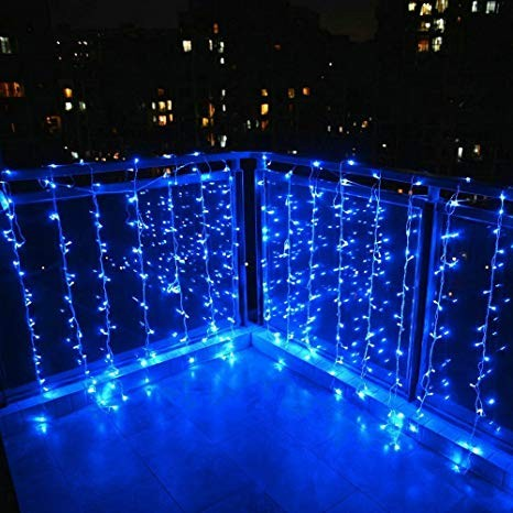 Cortina led azul 2x1