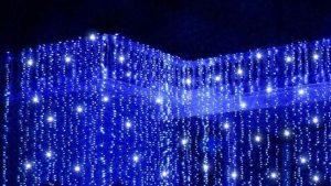 Cortina led azul con destellos