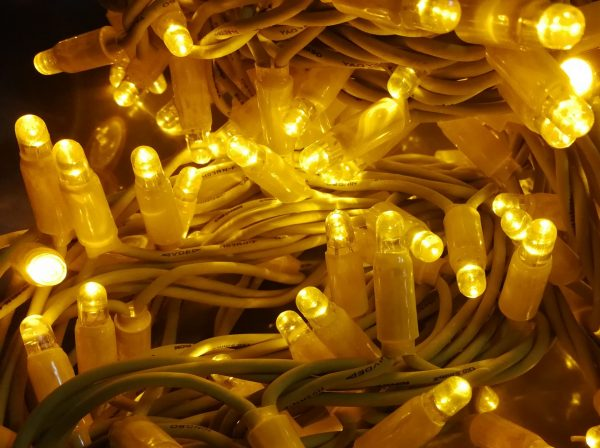 Guirnalda led amarillo 3x4m cable amarillo