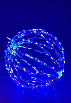 Bola Led 3D Luz Azul 30cm Plegable