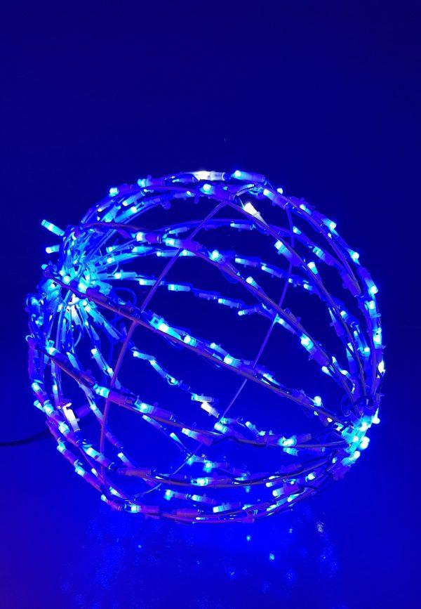 Bola Led 3D Luz Azul 50cm Plegable