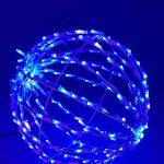 Bola Led 3D Luz Azul 80cm Plegable