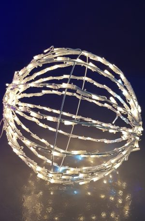 Bola 3D luz led blanco cálido