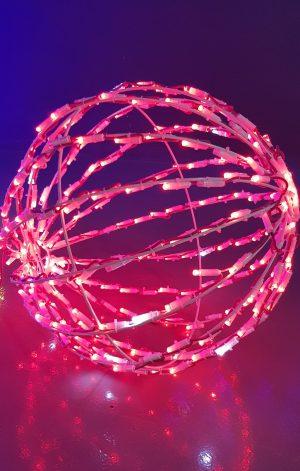 Bola 3D luz led roja